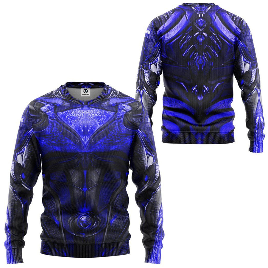 Gearhuman 3D Blue Power Ranger 2017 Custom Sweatshirt Apparel GJ25092 Sweatshirt Sweatshirt S