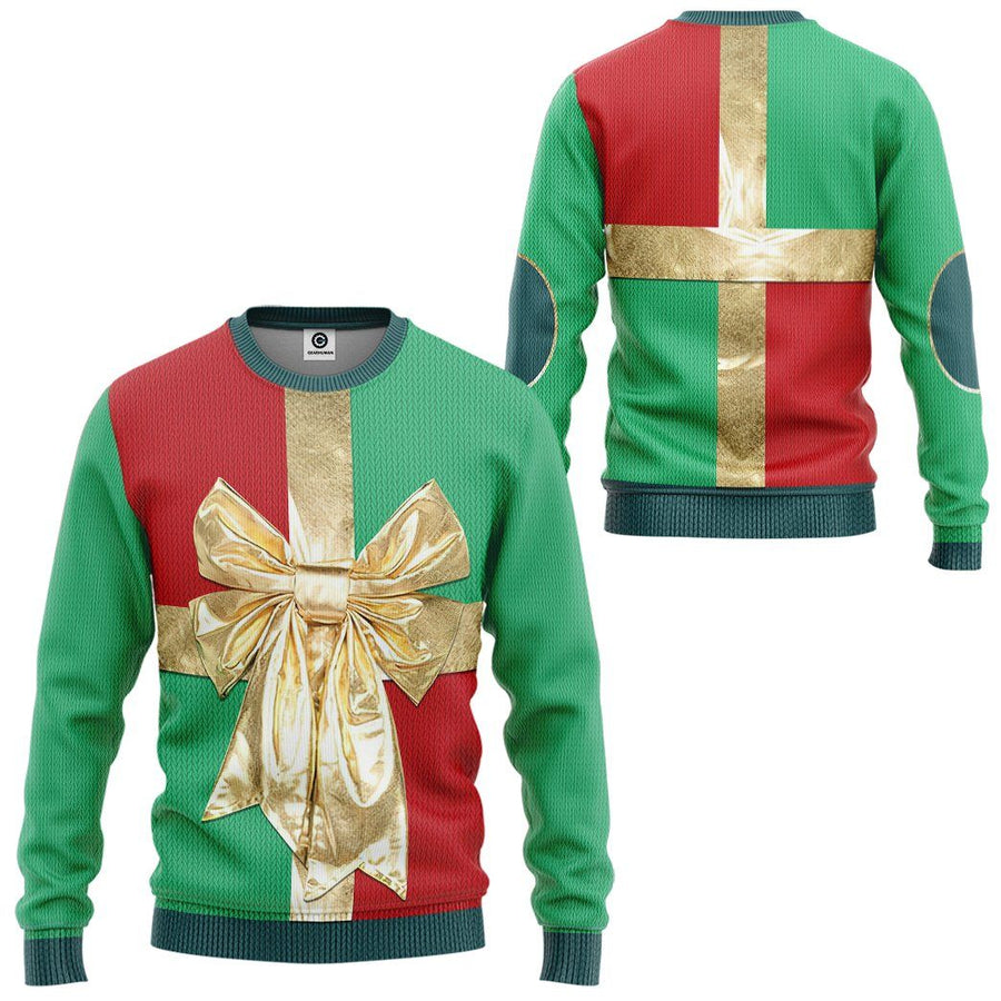 Gearhuman 3D Christmas Gift Box Custom Sweatshirt Apparel GC06102 Sweatshirt Sweatshirt S