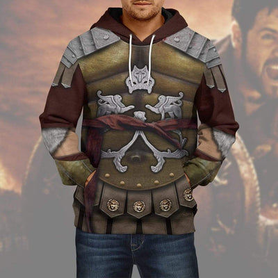 Gearhuman 3D Cosplay Gladiator Maximus Custom Hoodies Apparel GA11035 3D Custom Fleece Hoodies