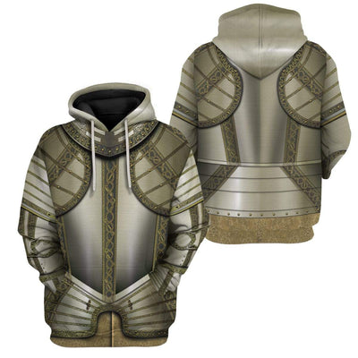 Gearhuman 3D Cosplay Knights Armor Custom Hoodies Apparel GT25024 3D Custom Fleece Hoodies