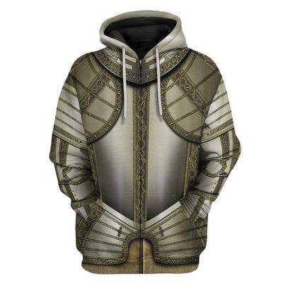 Gearhuman 3D Cosplay Knights Armor Custom Hoodies Apparel GT25024 3D Custom Fleece Hoodies Zip Hoodie S