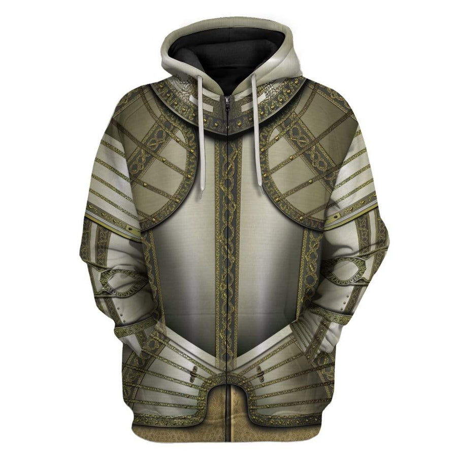 Gearhuman 3D Cosplay Knights Armor Custom Hoodies Apparel GT25024 3D Custom Fleece Hoodies Hoodie S