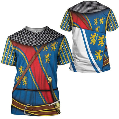 Gearhuman 3D Cosplay Robert The Bruce Custom T-Shirts Hoodies Apparel GM15025 3D Custom Fleece Hoodies