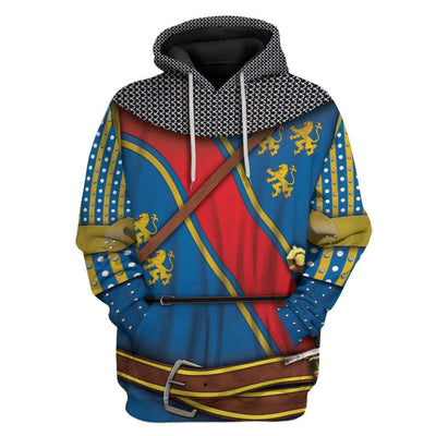 Gearhuman 3D Cosplay Robert The Bruce Custom T-Shirts Hoodies Apparel GM15025 3D Custom Fleece Hoodies Hoodie S