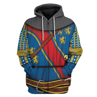 Gearhuman 3D Cosplay Robert The Bruce Custom T-Shirts Hoodies Apparel GM15025 3D Custom Fleece Hoodies Zip Hoodie S