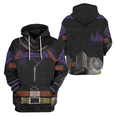 Gearhuman 3D Cosplay Wraith Apex Legends Custom T-Shirts Hoodies Apparel CO-DT0702206 3D Custom Fleece Hoodies