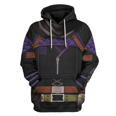 Gearhuman 3D Cosplay Wraith Apex Legends Custom T-Shirts Hoodies Apparel CO-DT0702206 3D Custom Fleece Hoodies Hoodie S