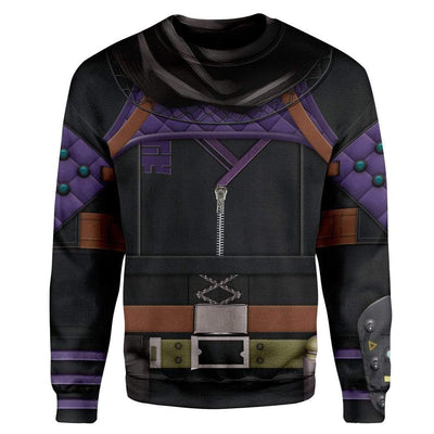 Gearhuman 3D Cosplay Wraith Apex Legends Custom T-Shirts Hoodies Apparel CO-DT0702206 3D Custom Fleece Hoodies Long Sleeve S