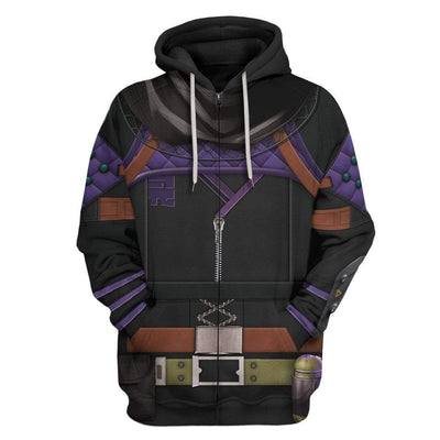 Gearhuman 3D Cosplay Wraith Apex Legends Custom T-Shirts Hoodies Apparel CO-DT0702206 3D Custom Fleece Hoodies Zip Hoodie S