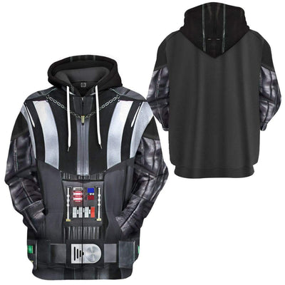 Gearhuman 3D Darth Vader Costume Custom Hoodie Apparel GW20085 3D Custom Fleece Hoodies