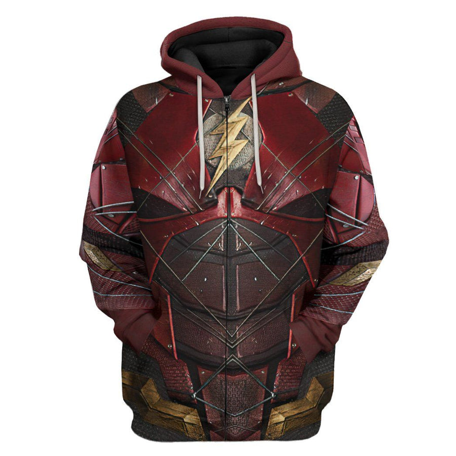 Gearhuman 3D DC The Flash Suit Custom Hoodie Apparel GW24095 3D Apparel Hoodie S