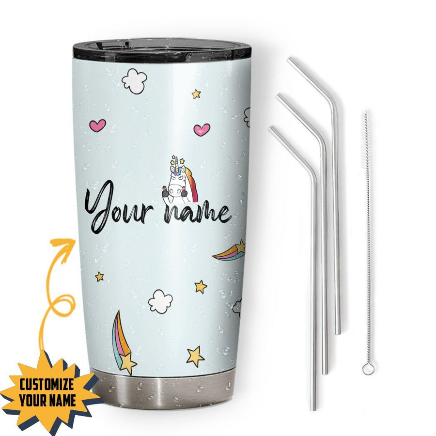 Gearhuman 3D Dont Ask A Stupid Question Custom Name Design Vacuum Insulated Tumbler GV11094 Tumbler 20oz