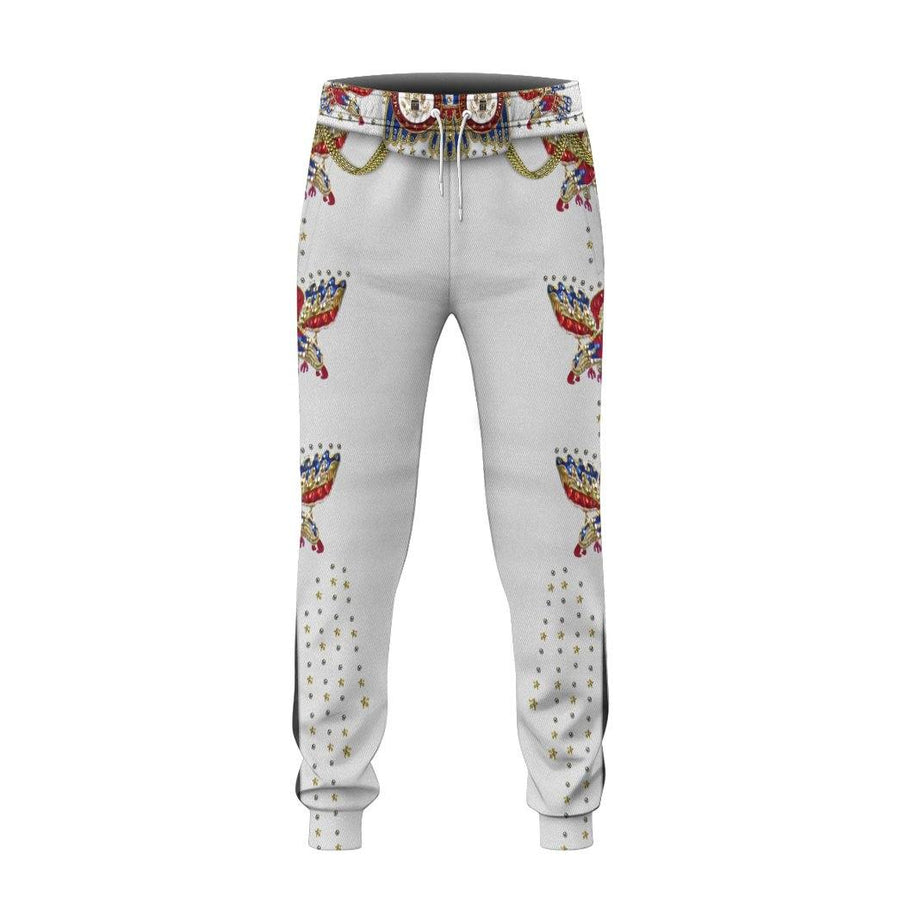 Gearhuman 3D Elvis Presley Eagle Jumpsuit Custom Sweatpants Apparel GV030931 Sweatpants Sweatpants S
