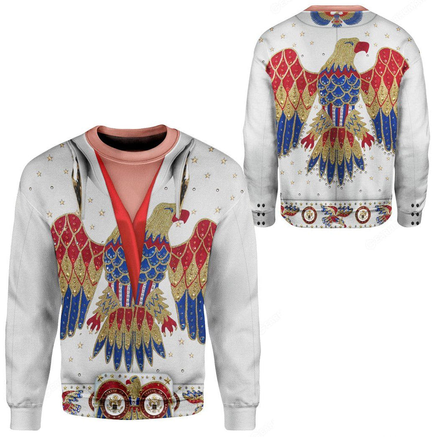 Gearhuman 3D Elvis Presley Eagle Jumpsuit Custom Sweatshirt Apparel