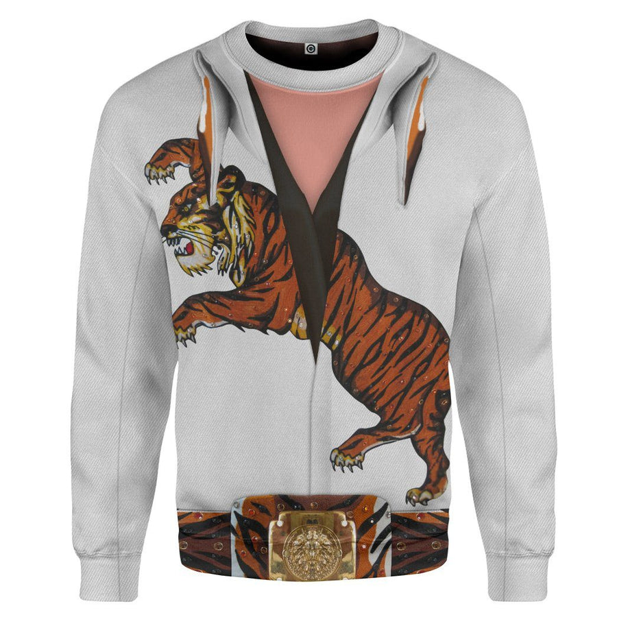 Gearhuman 3D Elvis Presley Tiger Jumpsuit Custom Sweatshirt Apparel