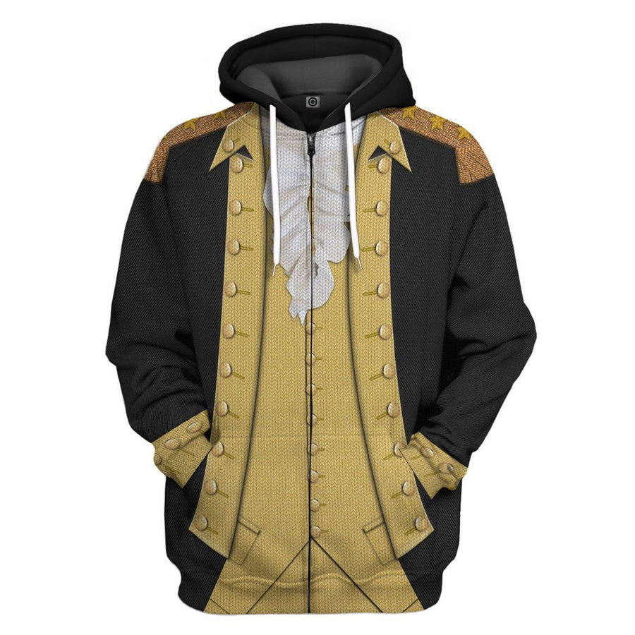 Gearhuman 3D George Washington Custom Ugly Hoodie