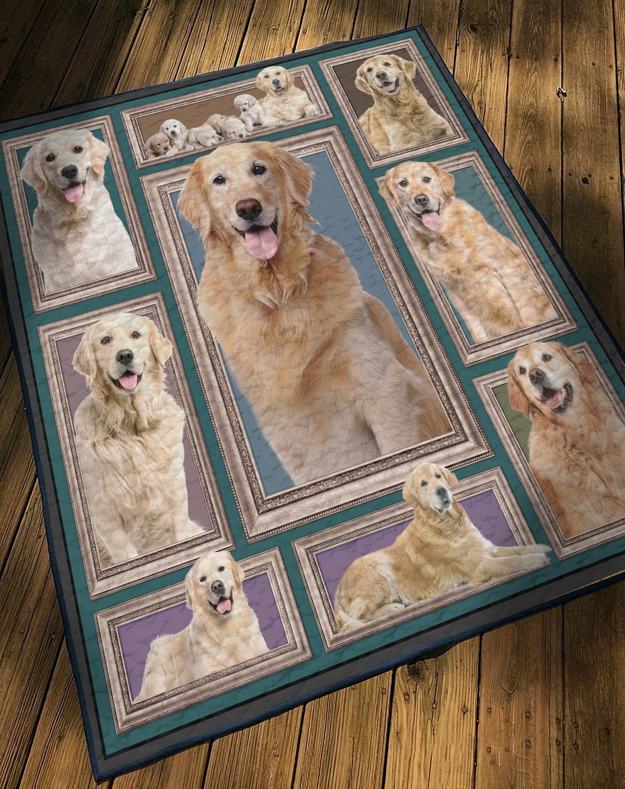 Gearhuman 3D Golden Retriever Custom Quilt