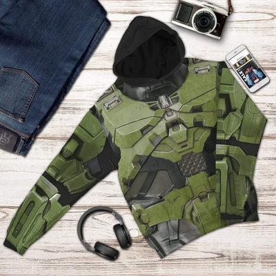 Gearhuman 3D Halo Infinite Masterchief Cosplay Custom Hoodie Apparel GS29076 3D Custom Fleece Hoodies