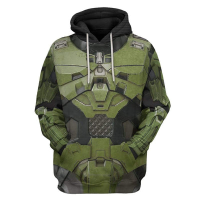 Gearhuman 3D Halo Infinite Masterchief Cosplay Custom Hoodie Apparel GS29076 3D Custom Fleece Hoodies Hoodie S