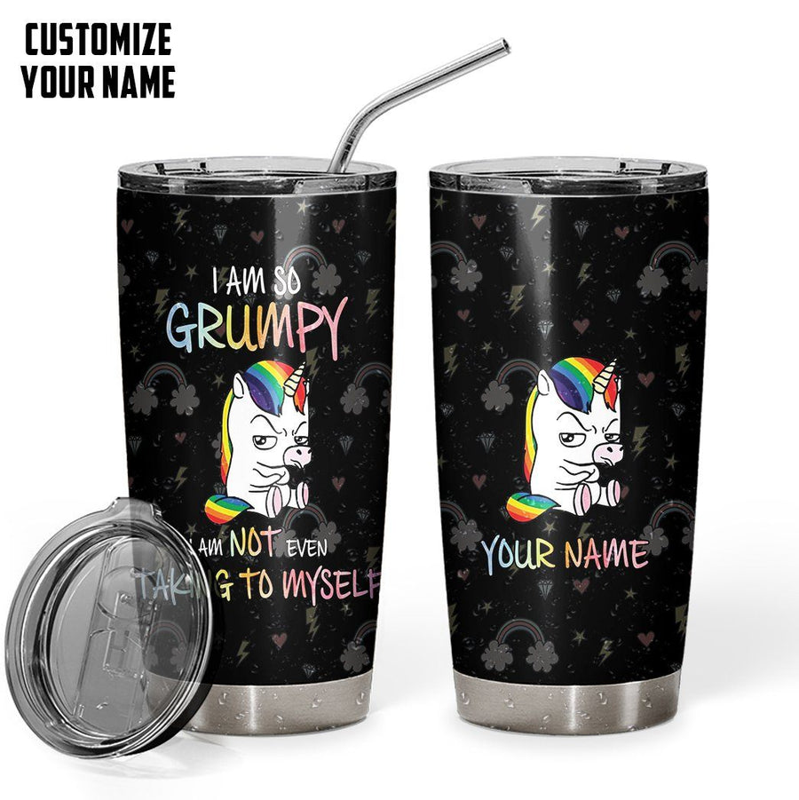 Gearhuman 3D Im Not Talking To Myself Custom Name Design Vacuum Insulated Tumbler GV11099 Tumbler 20oz