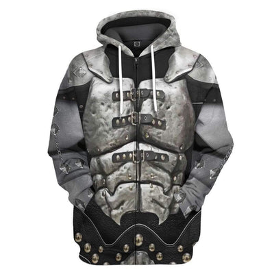 Gearhuman 3D KISS Gene Demon Custom Hoodie Apparel GL120841 3D Custom Fleece Hoodies Zip Hoodie S