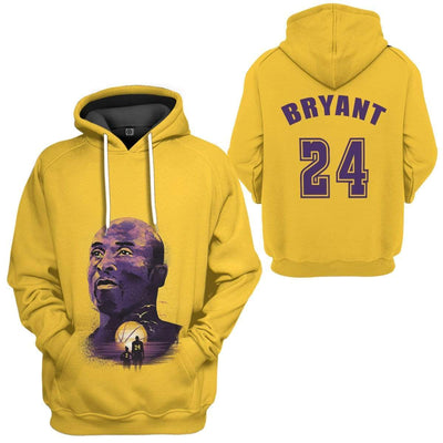 Gearhuman 3D Kobe Bryant 24 Custom Hoodie Apparel GW290715 3D Custom Fleece Hoodies