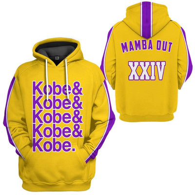 Gearhuman 3D Kobe Bryant Custom Hoodie Apparel GN22071 3D Custom Fleece Hoodies