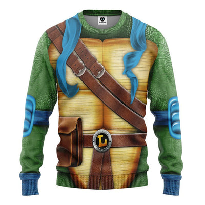 Gearhuman 3D Leonardo TMNT Leo Cosplay Custom Tshirt Hoodie Apparel GV31124 3D Apparel Long Sleeve S