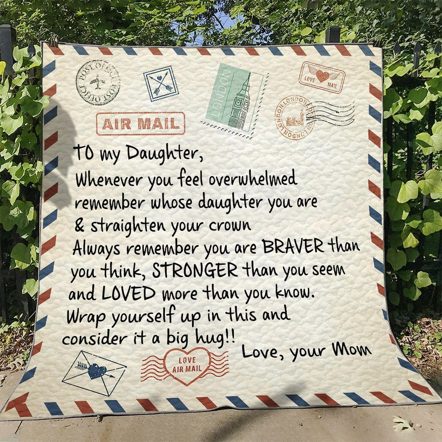 Gearhuman 3D Letter To Daughter From Mom Custom Quilt GW10093 Quilt Quilt Twins