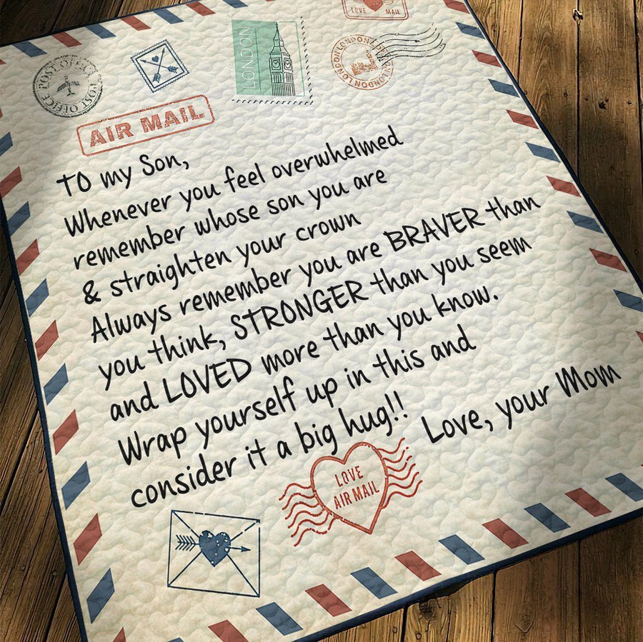 Gearhuman 3D Letter To Son From Mom Custom Quilt GW10094 Quilt Quilt Twins
