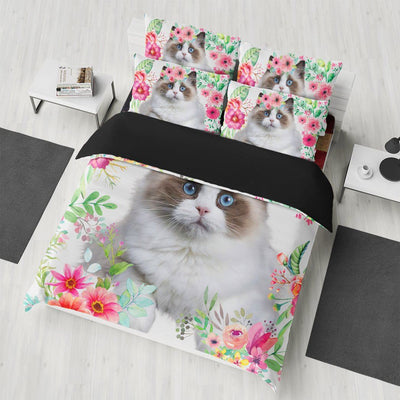 Gearhuman 3D Love Beautiful Ragdoll Cat Bedding Set GK07012 Combo Bedding