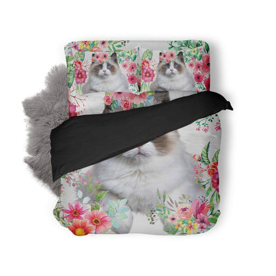 Gearhuman 3D Love Beautiful Ragdoll Cat Bedding Set GK07012 Combo Bedding Bedding Set Twin 3PCS