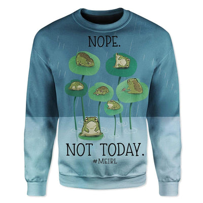 Gearhuman 3D Meirl Not Today Lazy Pepe Custom T-Shirts Hoodies Apparel GT15022 3D Custom Fleece Hoodies Long Sleeve S