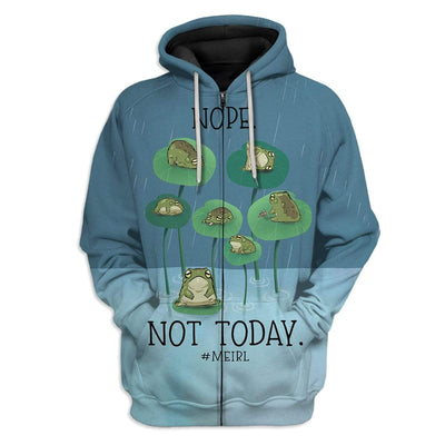 Gearhuman 3D Meirl Not Today Lazy Pepe Custom T-Shirts Hoodies Apparel GT15022 3D Custom Fleece Hoodies Zip Hoodie S