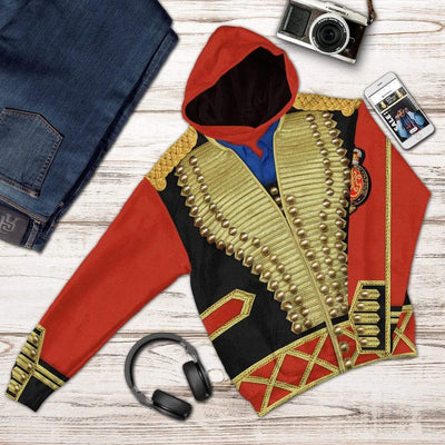 Gearhuman 3D Michael Jackson Jacket Hoodie Apparel GV07072 3D Custom Fleece Hoodies