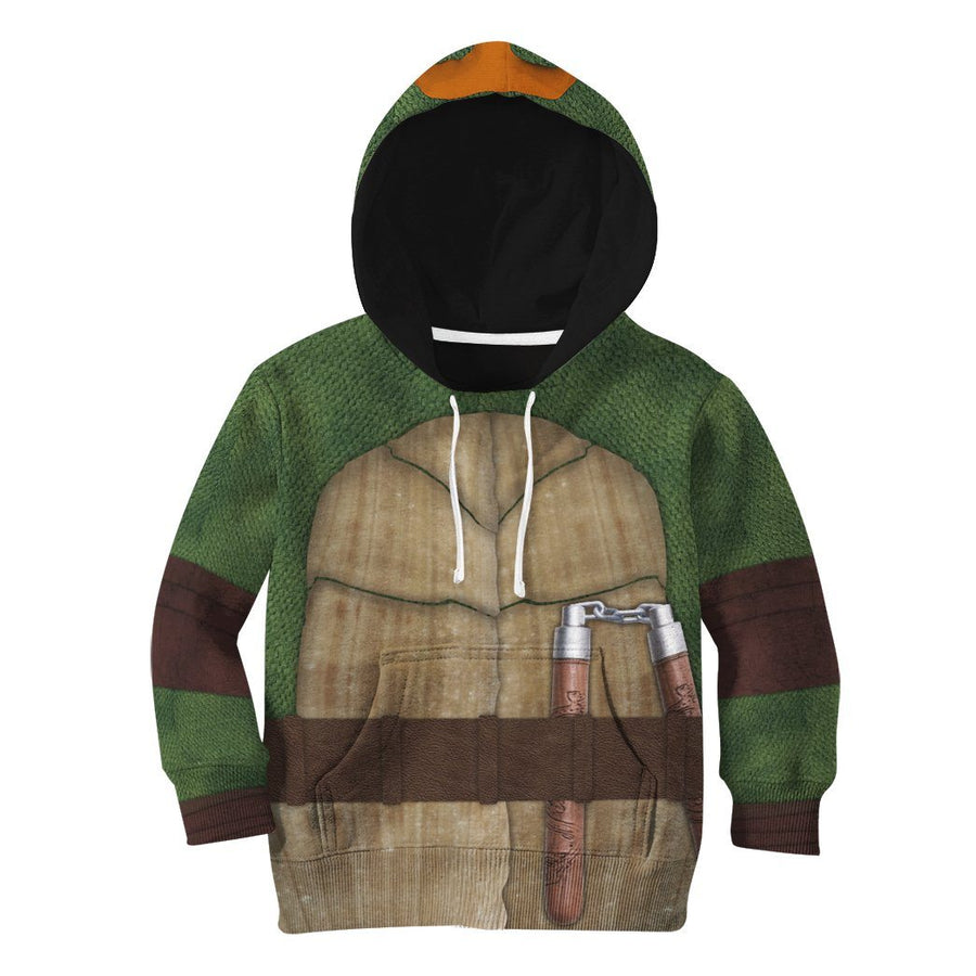 Gearhuman 3D Michelangelo TMNT Mike Mikey Cosplay Custom Tshirt Hoodie Apparel Kids