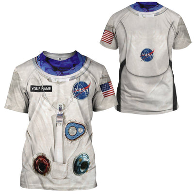 Gearhuman 3D NA Armstrong Space Suit Custom Name Tshirt Hoodie Apparel GV140910 3D Apparel