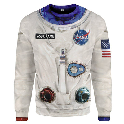 Gearhuman 3D NA Armstrong Space Suit Custom Name Tshirt Hoodie Apparel GV140910 3D Apparel Long Sleeve S