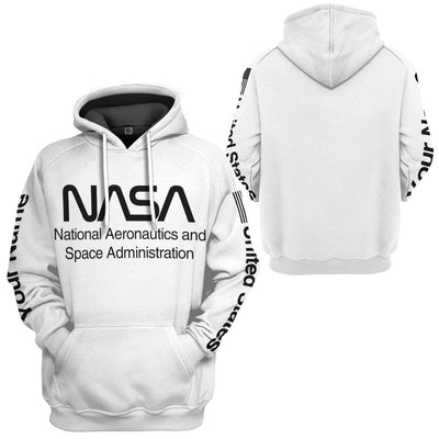 Gearhuman 3D Nasa Custom Name Hoodie Apparel GN180815 3D Custom Fleece Hoodies