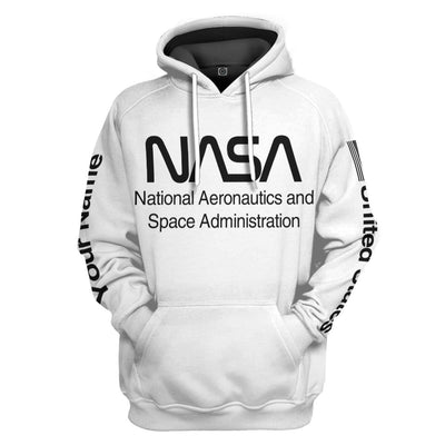 Gearhuman 3D Nasa Custom Name Hoodie Apparel GN180815 3D Custom Fleece Hoodies Hoodie S