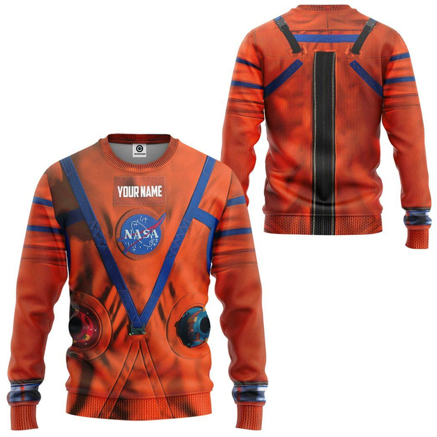 Gearhuman 3D NASA Orion Space Suit Custom Name Sweatshirt Apparel GW21097 Sweatshirt Sweatshirt S
