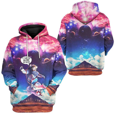 Gearhuman 3D Need More Space Custom Hoodie Apparel GL24063 3D Custom Fleece Hoodies