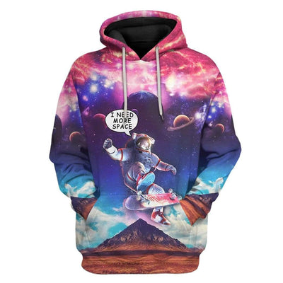 Gearhuman 3D Need More Space Custom Hoodie Apparel GL24063 3D Custom Fleece Hoodies Hoodie S