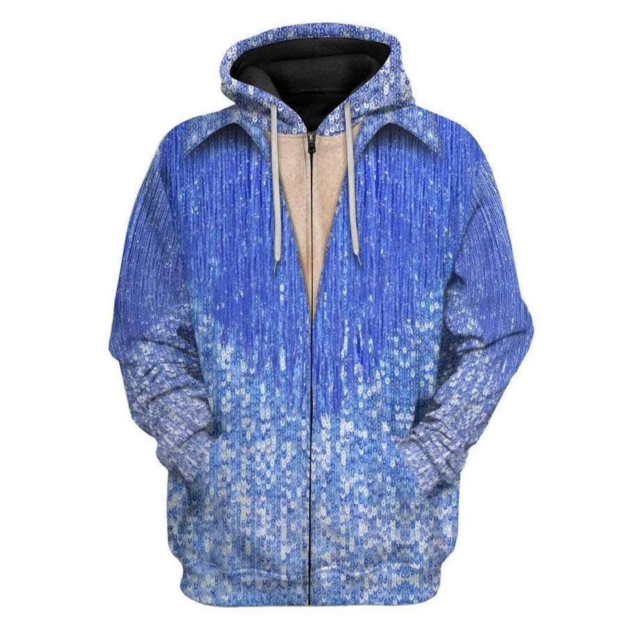 Gearhuman 3D Neil Diamond Blue Suit Custom Hoodie Apparel