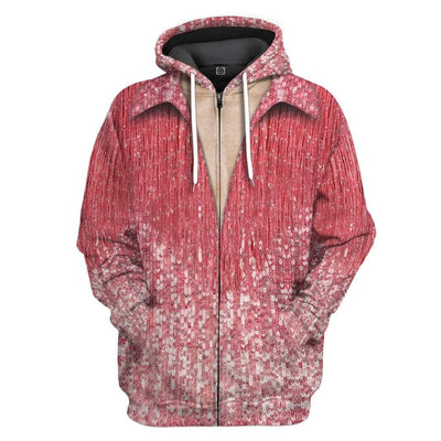 Gearhuman 3D Neil Diamond Red Suit Custom Hoodie Apparel GV14084 3D Custom Fleece Hoodies Zip Hoodie S