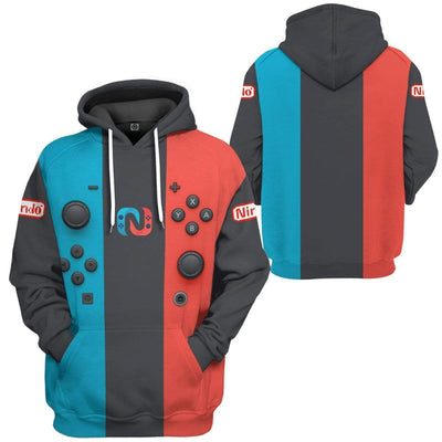 Gearhuman 3D Nintendo Switch Custom Fleece Hoodie Apparel GW28041 3D Custom Fleece Hoodies