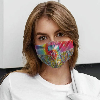 Gearhuman 3D Peace Love Hippie Van Custom Water Proof Fabric Face Mask GV240812 Face Mask