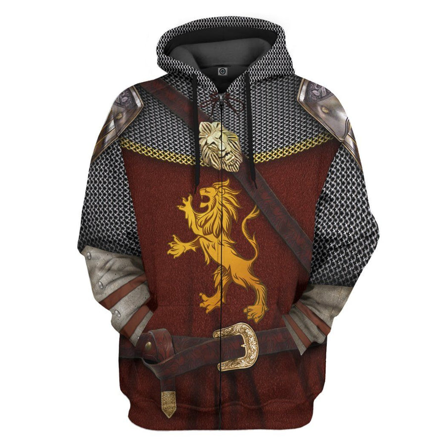 Gearhuman 3D Peter Pevensie The Chronicles of Narnia Custom Hoodie Apparel GV08096 3D Custom Fleece Hoodies Hoodie S