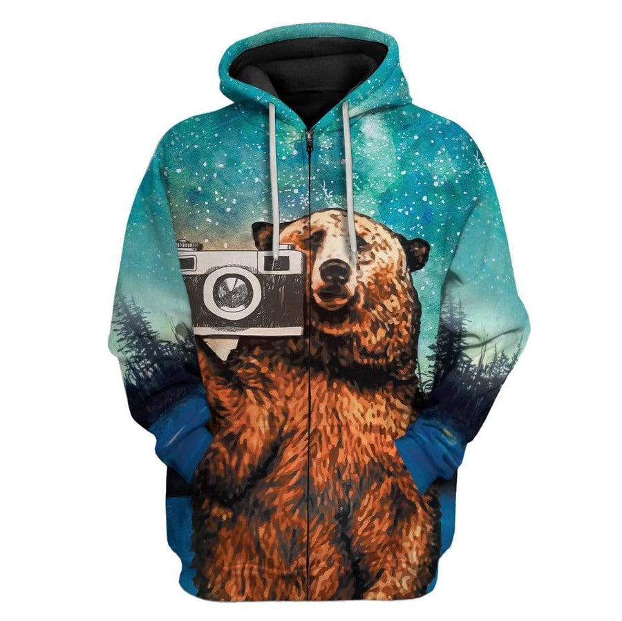 Gearhuman 3D Photographer Camping Custom Hoodies Apparel