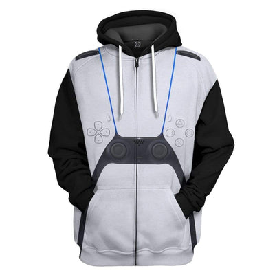Gearhuman 3D PlayStation 5 Custom Hoodie Apparel GL17066 3D Custom Fleece Hoodies Zip Hoodie S
